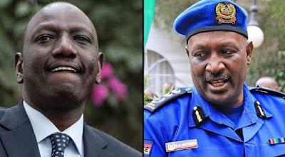 DP William Ruto and Police IG Hillary Mutyambai . PHOTO   FILE