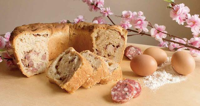 Casatiello uova salame Pasqua