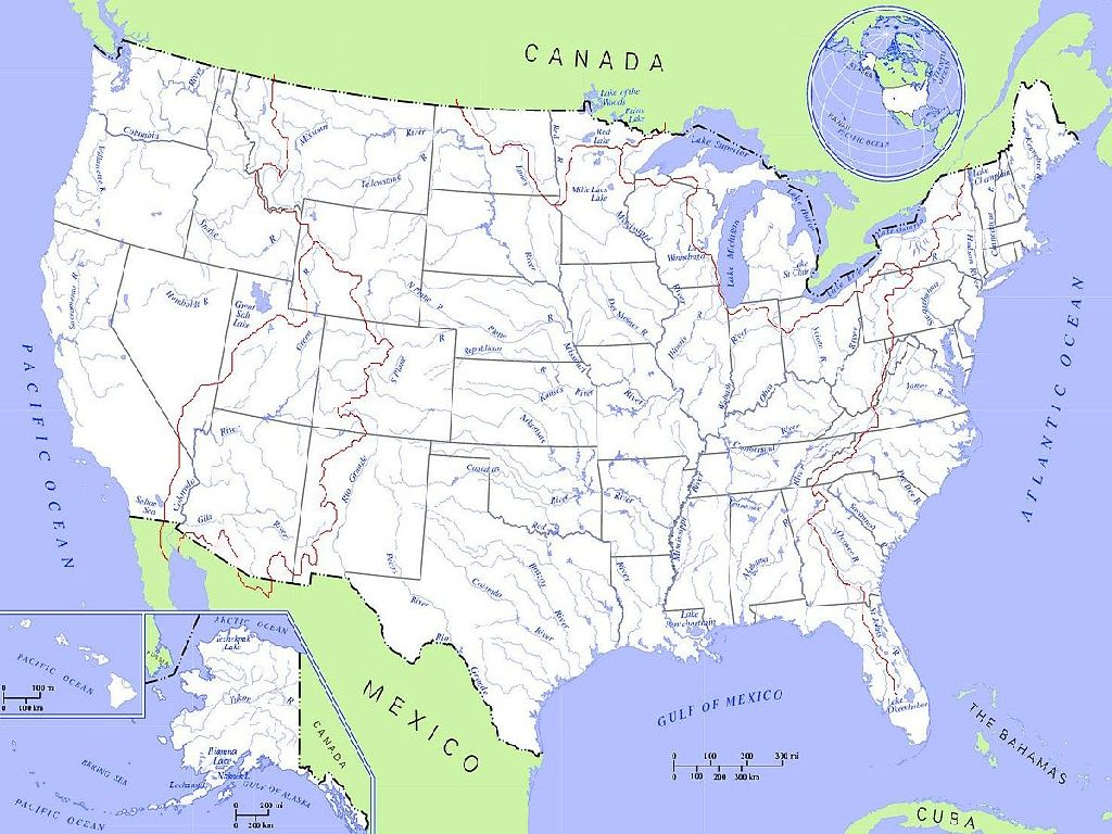 united states river maps