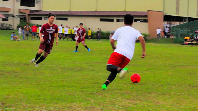 Action during the opening match of the Lipa Football League Season 1.