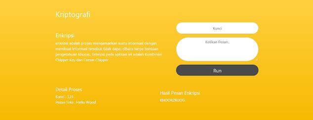 Aplikasi Enkripsi Pesan dengan ChiperKey Caesar Chiper
