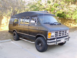 Van painted with bedliner showing unevenness