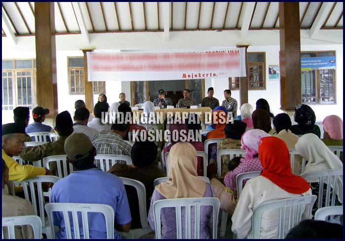 undangan rapat desa