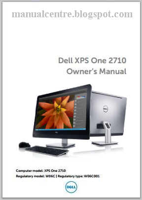Dell XPS One 2710 Manual Cover