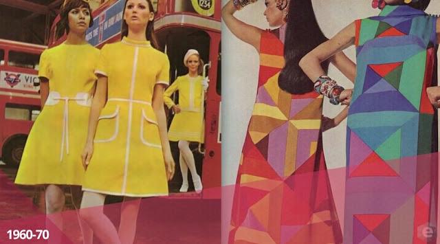 moda década de 1960 -1970
