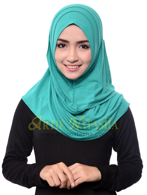 natasha 2 loops cotton tudung terbaru fesyen hari raya 2015