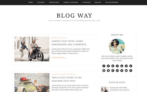 Blog Way Free Blogger Template