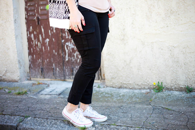 photo pantalon cargo noir Cimmaron jean