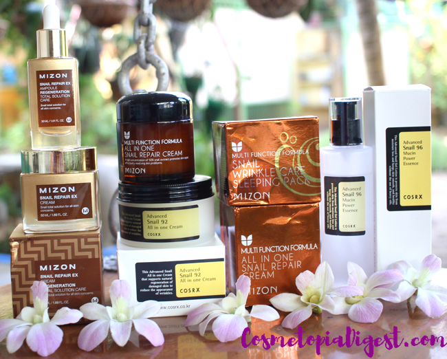 Snail skincare routine products, benefits and review.