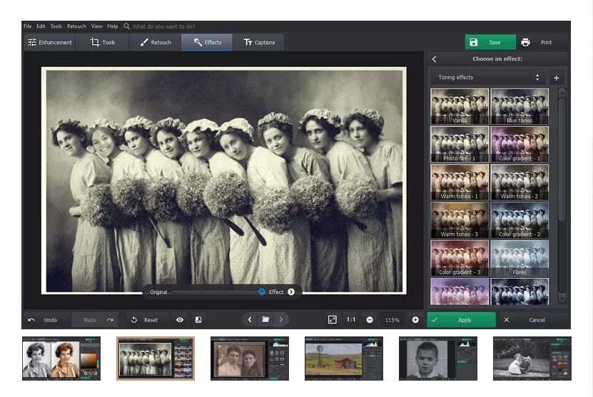 تحميل برنامج PhotoGlory 1.25 لإصلاح الصور القديمة