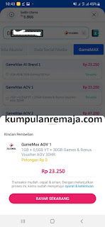 Beli Paket GameMax Telkomsel 32GB Via Langit Pay