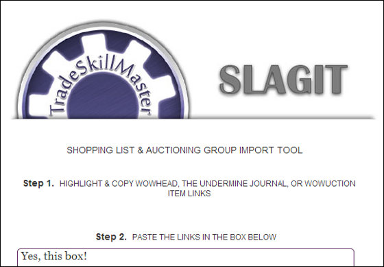A Guide To SLAGIT - The TSM Shopping List & Auctioning Group