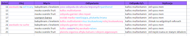 Włosowy dziennik - 11-25 czerwca 2016r. - CZĘŚĆ I