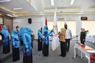 Dukung Minat Baca, Zahir Bersama Ketua PD GPMB Provsu Lantik PD GPMB Batu Bara