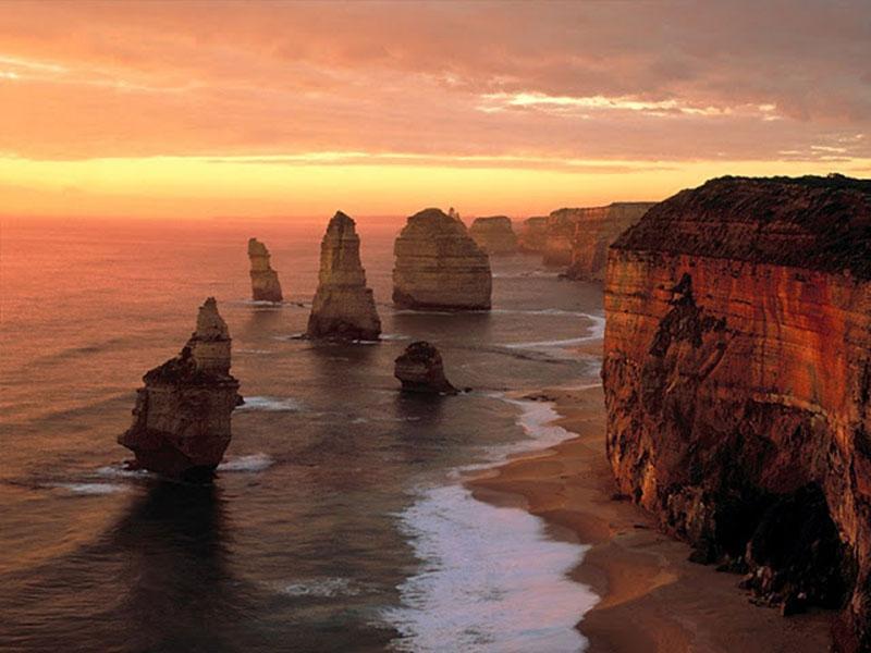 Побережье Австралии на закате