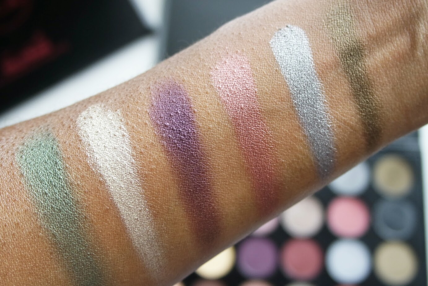 J. Cat Hollywood and Santa Monica Palette Swatches