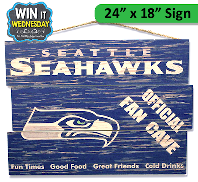 "Seattle Seahawks 24"" x 18"" FAN CAVE Sign"