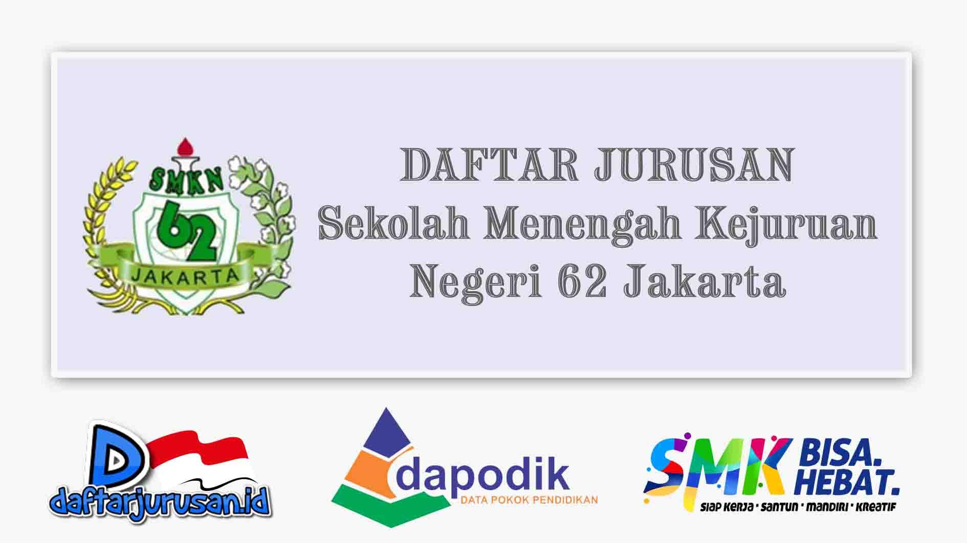Daftar Jurusan SMK Negeri 62 Jakarta Selatan