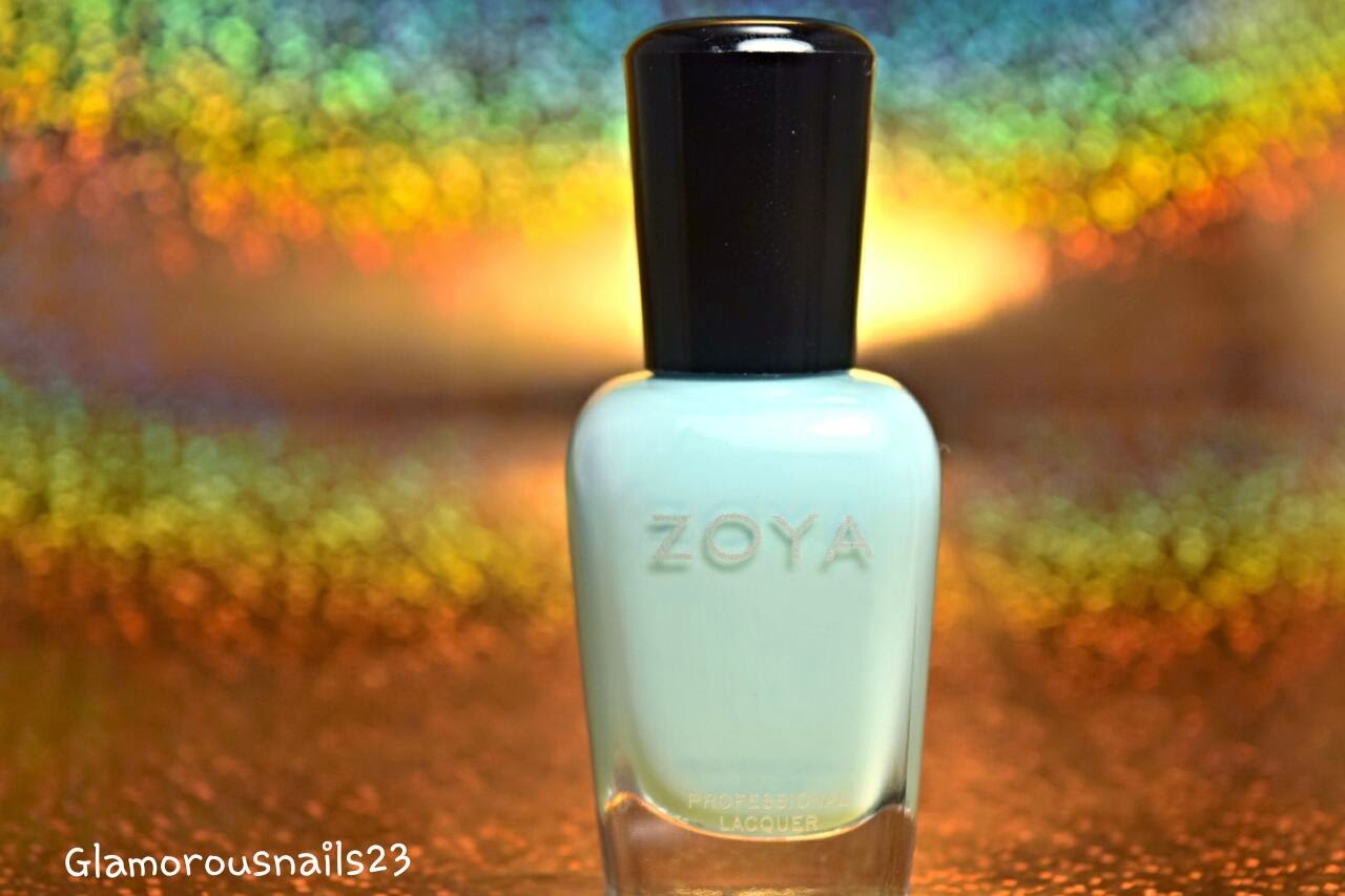 Lillian, Pastel Blue Nail Polish; Zoya Delight Collection 2015