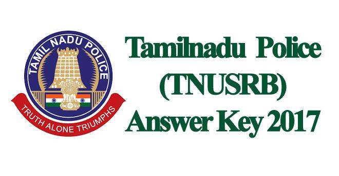 TN Police Exam Answer Key 2017 Download
