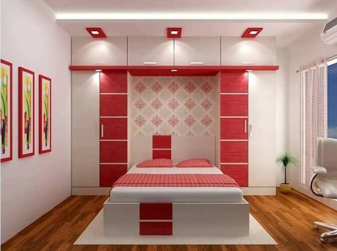 Desain Ruangan kamar rumah minimalis sederhana warna cat mewah