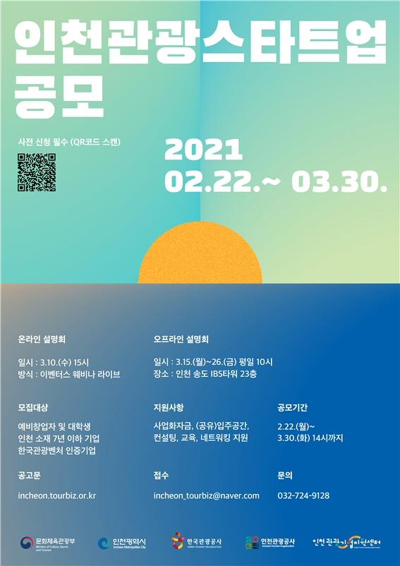 2021년 인천관광스타트업 공모, 12개 기업 선정