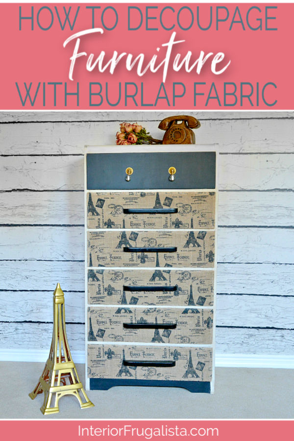 How To Decoupage Furniture With Burlap