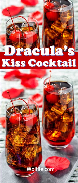 Dracula's Kiss Cocktail Recipe #Cocktail #Drink