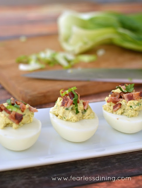 National Picnic Month - Bok Choy Deviled Eggs