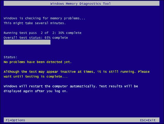 أداة تشخيص ذاكرة Windows