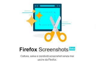foto pagine web con firefox