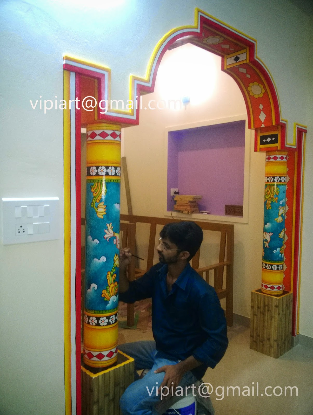 Vipin Iritty Artist Kerala Mural Paintings And Oil Paintings