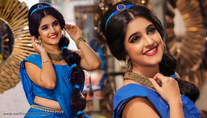 Meenakshi Dinesh Photos recreating Disney Princess Jasmine