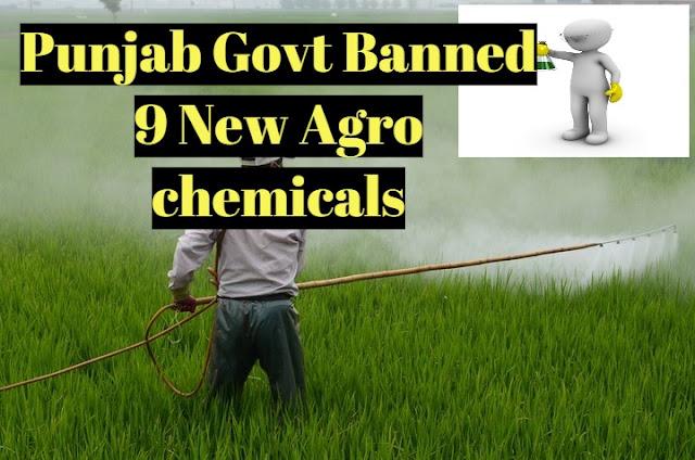 Punjab Govt bann Agrochemicals