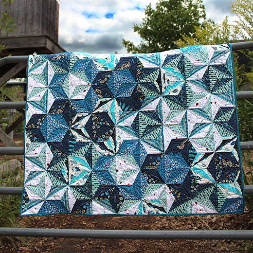 Y-seams Quilt Free Tutorial designed by Bobbie of The Geeky Bobbin