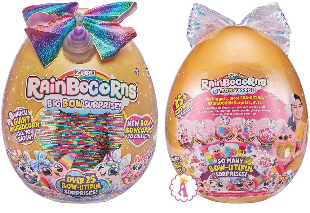 Giant Rainbocorns золотое яйцо с рогом и бантом Big Bow Surprise