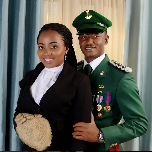 Viral Breaking News Stunning And Adorable Photos Of Maine: Beautiful Nigerian Lawyer Marries Her Soldier Bae After