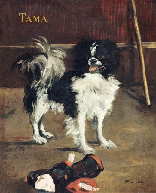 Tama the Japanese dog by Edouard Manet