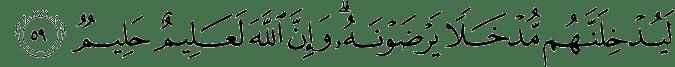 Surat Al Hajj ayat 59
