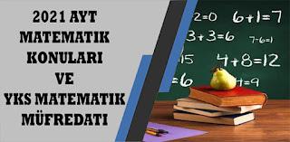 2021 ayt matematik  konuları