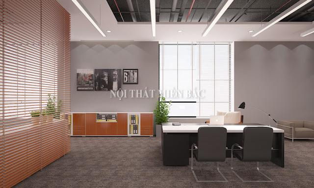 Thiết kế nội thất phòng giám đốc phong cách trẻ, hiện đại - H2