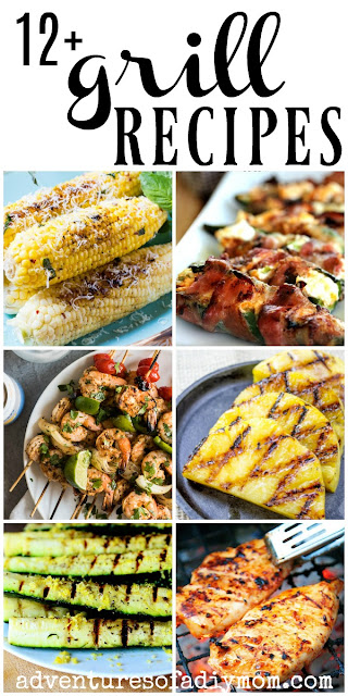 collage of grilled food