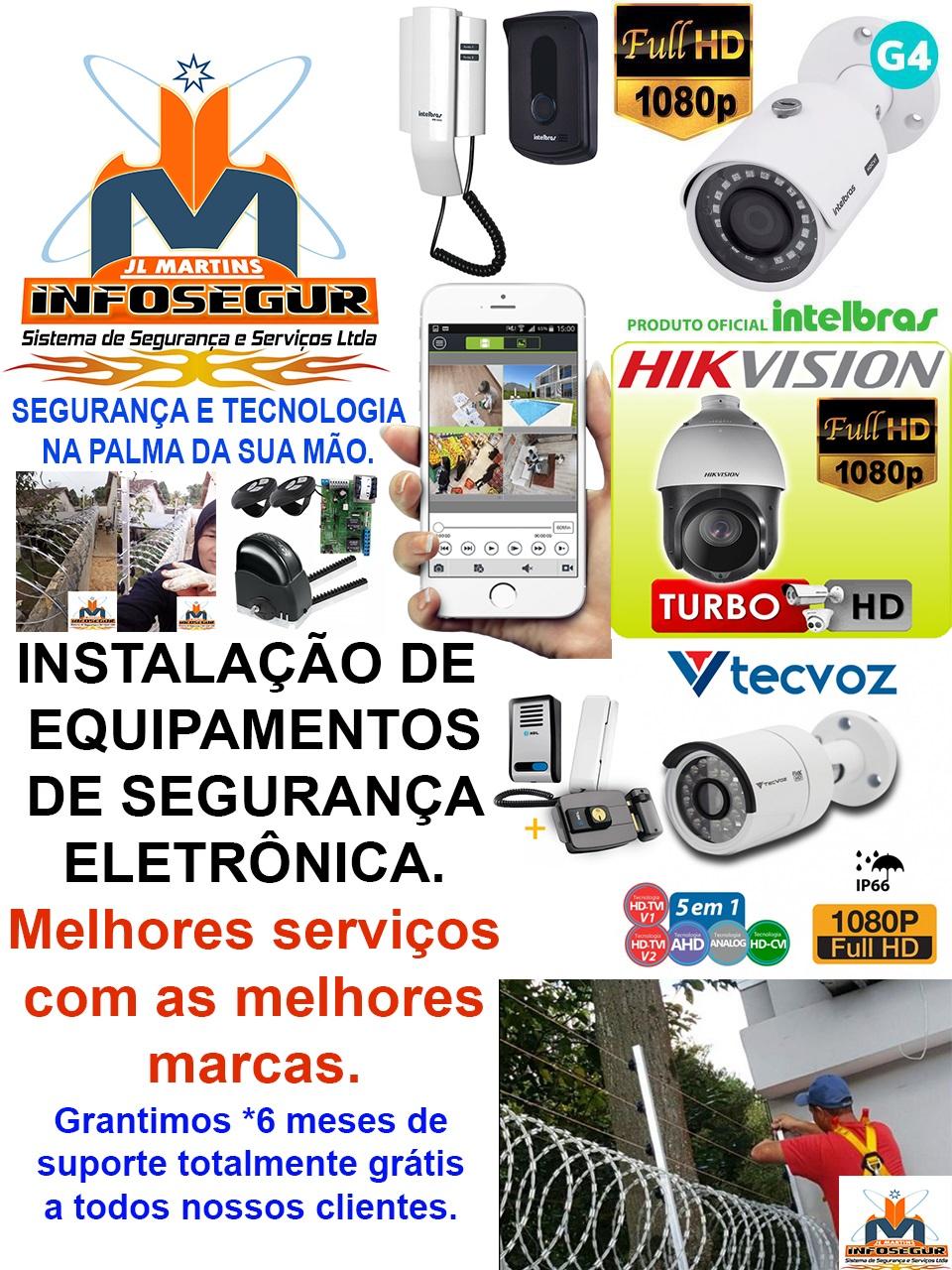 JL MARTINS INFOSEGUR, instalaçao de cameras de segurança em Bragança, instalaçao de cameras de vigilancia em augusto correa