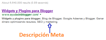 Como insertar correctamente una descripción meta en Blogger