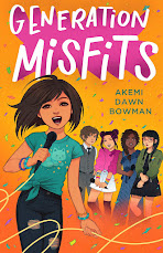 Generation Misfits book cover. Young woman with a mic singing. There are four more young women in the background participating in the show.