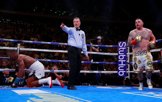 Andy Ruiz Jr. Beats Up And Stops  Anthony Joshua To Claim World Titles