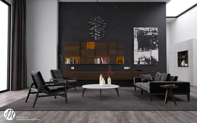Desain Ruang Tamu Backround black