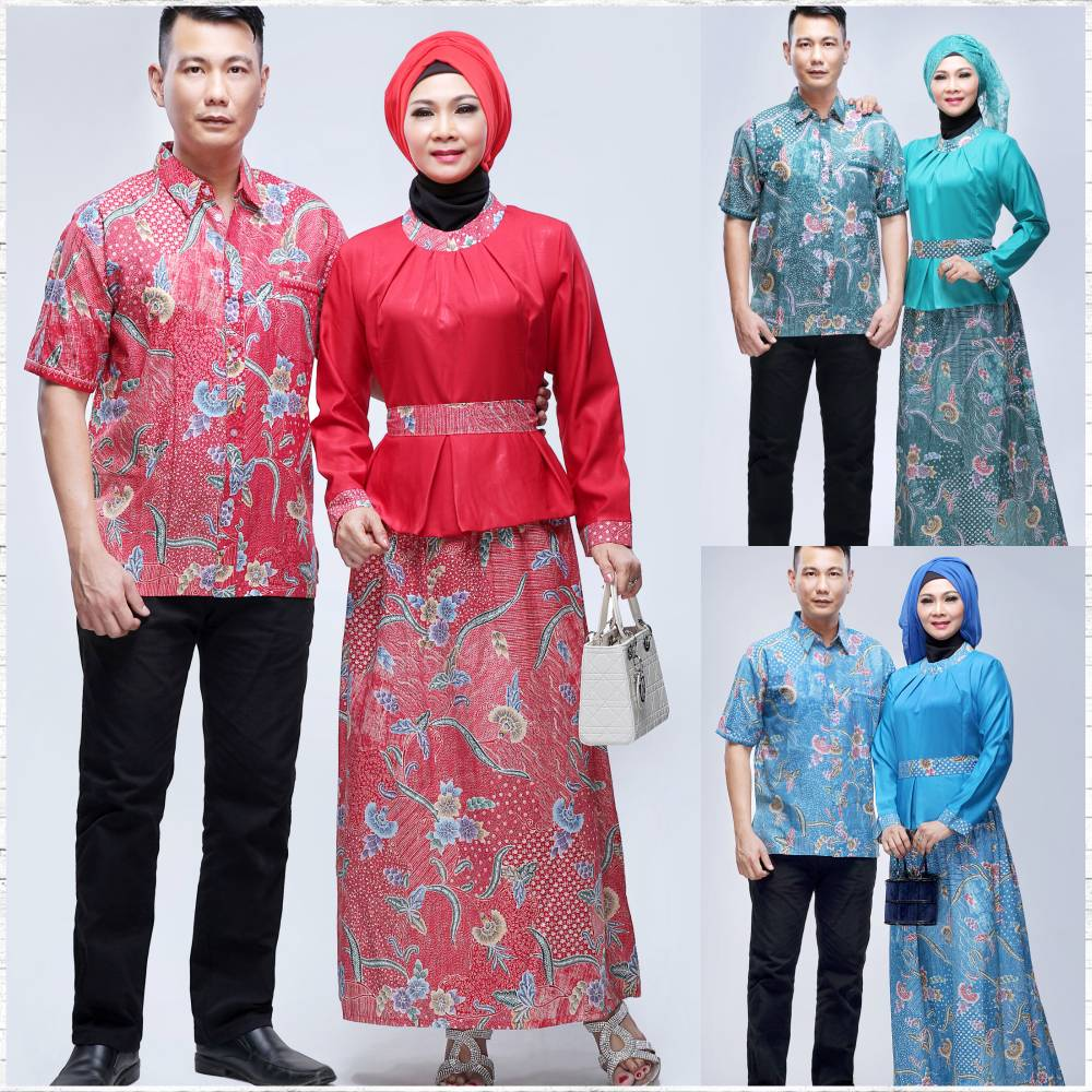 Batik bagoes solo model baju batik gamis seri diva couple Baju couple gamis denim
