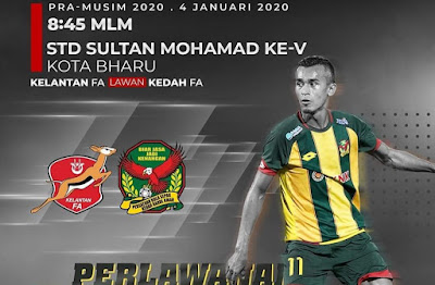 Live Streaming Kelantan vs Kedah Friendly Match 4.1.2020