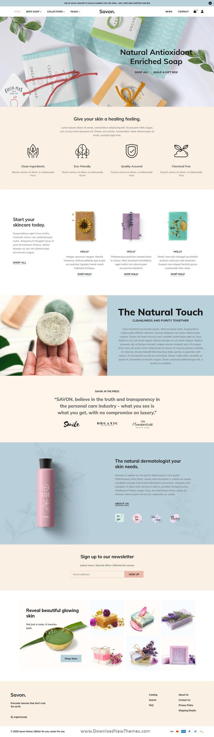 Handmade Soap, Cosmetics Beauty Shopify Theme